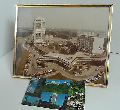 Four Seasons Inn On The Park Framed Picture With Unused Postcard Circa 1980's