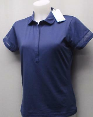 New Ladies Size US 8/MEDIUM PING Mila short sleeve cobalt polo golf shirt