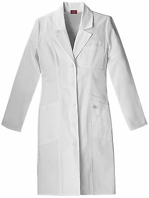 "Dickies EDS 82401 Women's 37"" Lab Coat Medical Uniforms Scrubs"