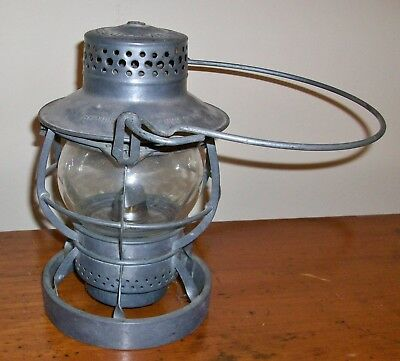Vintage Dressel Railroad lantern - Reading Co. Loco Department - clear globe