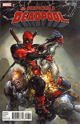Despicable Deadpool #287 1:25 Clayton Crain Variant Cover Vs Cable Marvel Legacy