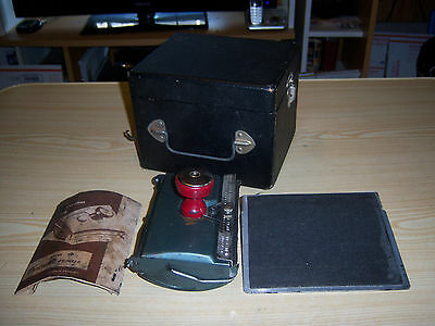 Antique Heyer Corporation Portable Postcard Printer  Lettergraph Model 60 & Case
