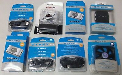Dynex/Rocketfish USB A to B Cables, Fans, Memory Card Reader/Wirters, USB Hub