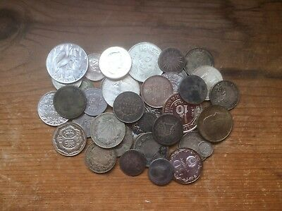 Silver World coin lot of 15.77 ozt of silver coins ..500 to .900 fine Must see
