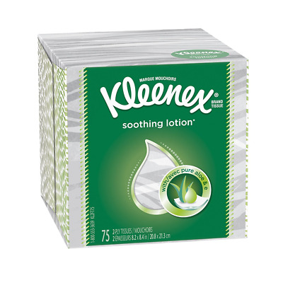 Kleenex Facial Tissue With Lotion, Upright, 75 ct