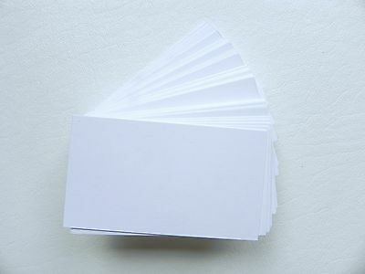 100 ct. White Blank Business Cards 80 lb.Cover - 3.5 x 2 Wedding place cards