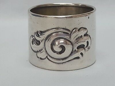 Antique Sterling Silver Napkin Ring Art Nouveau Style 19 Grams