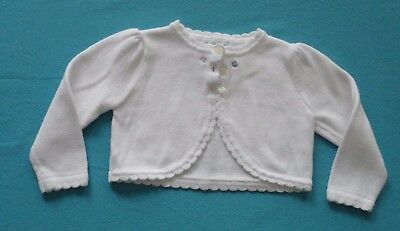 Ralph Lauren White Scalloped with Flower Sweater 9 Months