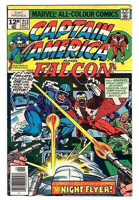 Marvel Comics CAPTAIN AMERICA 213 SEPTEMBER 1977 JACK KIRBY FN+
