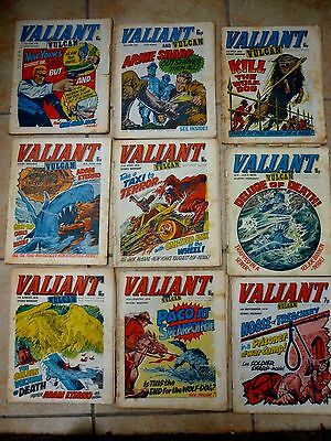 VALIANT and Vulcan COMIC - NINE ISSUES 1976