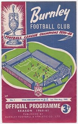 Burnley v Wolves - 1960/61 Charity Shield