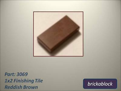 NEW Lego Part 3069 1x2 Smooth / Flat Tile / Plate (20 Reddish Brown Pieces)