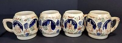 Vintage German Cups Mugs Set of 4