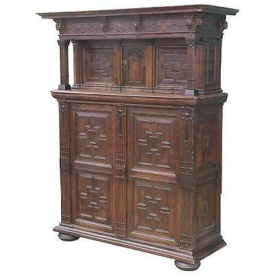 Impressive Large Antique Oak French Cupboard