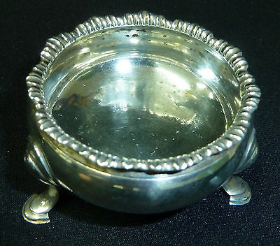 Antique George III Solid Silver Salt Bowl - Hallmarked London 1763 - 45g
