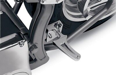 Alloy Art Folding Flush-Mount Footpegs ONLY for Narrow Swingarms Chrome SRP-1