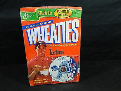 Tiger Woods Wheaties Cereal Box 1996 SEALED NEW GOLF LEGEND