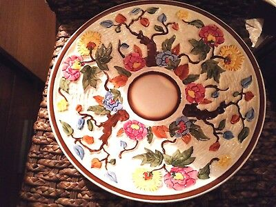 "H.J. Wood Ltd Indian Tree Bright Handpainted 12"" Round Plate/Dish/Charger"