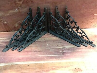 6 Leaf & Vine Shelf Brace Shelf Bracket Corbel Cast Iron Rustic  FREE SHIPPING