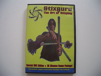 DVD Stix Guru aka Michael Sather The Art Of Stixplay Devil Stick Juggling