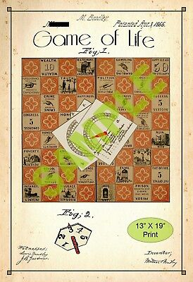 U.S. Patent Drawing Art Print Board Game Life Childs Play Room Poster