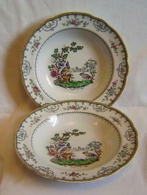 Copeland late Spode : Two Chelsea Pattern Large Soup Plates from Harrods c.1911