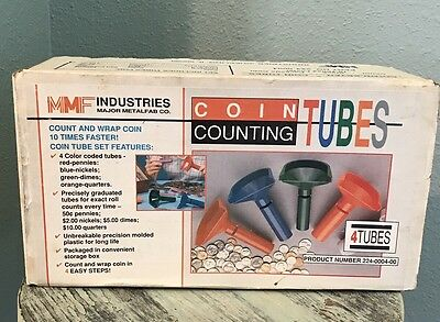 Coin Counting 4 Tubes in Box Used