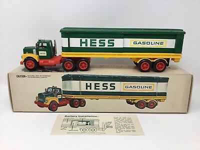 Vintage 1975 Hess Oil Barrel Truck With Box