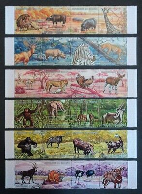 Burundi 1971 African animals fauna wildlife stamp sheets