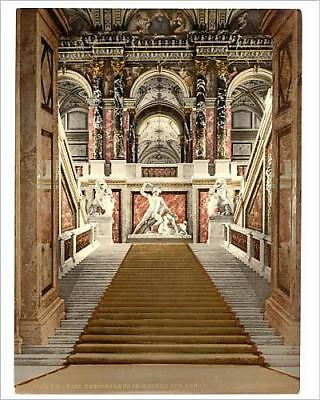 """10""""x8"""" (25x20cm) Print The Museum of Arts, the staircase, Vienna, A..."""