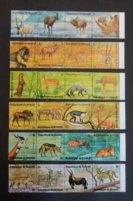 Burundi 1975 African animals fauna wildlife stamp sheets