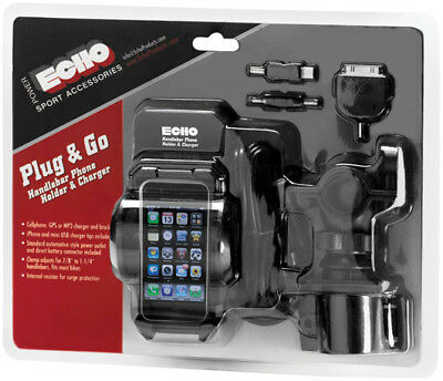 Echo Plug & Go Handlebar Mount Phone Holder and Charger Black