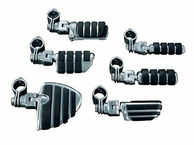 Kuryakyn Small ISO-Foot Pegs With Clevis and 1.25 Inch Magnum Quick Clamps Univ