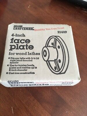 """Craftsman 4"""" Face Plate For Wood Lathes"""