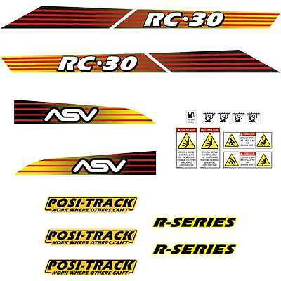 ASV RC30 Decals Stickers Repro Kit