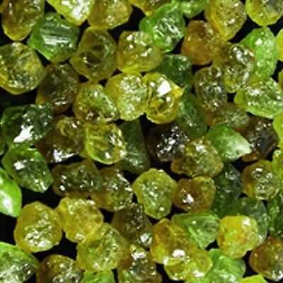 Lot-155.00+ CTS_(TOTAL)- NATURAL GREEN MALI GARNET FROM 3.00 TO 12.00 CTS