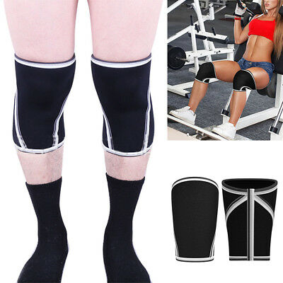 HX-7MM Neoprene WEIGHT LIFTING KNEE Compression Support Brace Gym Sleeve New