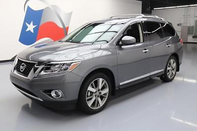 2015 Nissan Pathfinder  2015 NISSAN PATHFINDER PLATINUM PANO ROOF NAV DVD 24K  #716502 Texas Direct Auto