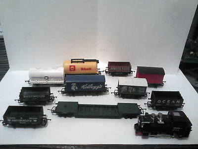 10 Hornby/Triang 00 Gauge Wagons,Tankers etc and a Little Tank Engine,All Good!