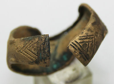 Ancient Viking bronze bracelet  dragon's head  MAGNIFICENT CONDITION 45g!!