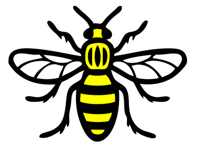 Worker Bee Decal - Manchester 2 Colour