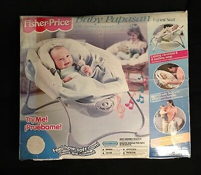 Fisher Price Baby Papasan Infant Seat Vibrating Chair