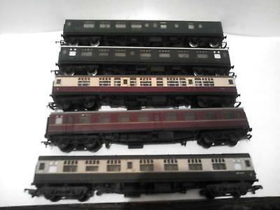 5 Hornby/Lima 00 Gauge Coaches inc Southern 4351,5740,All Good,Some Minor Wear!