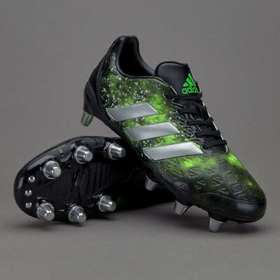 ADIDAS Kakari Elite SG Rugby Boots/Cleats (BA9048) NEW! US Men's 11 Black/Green