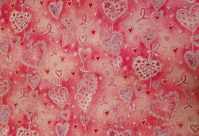Project Pink Ribbon Breast Cancer Awareness Cotton Fabric Print by Yard New Bolt