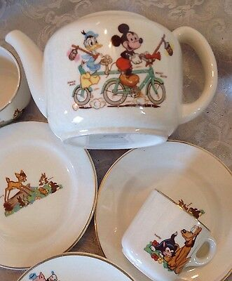 Beswick Vintage Walt Disney Bambi,mickey Mouse,thumper,pluto Part Of A Teaset