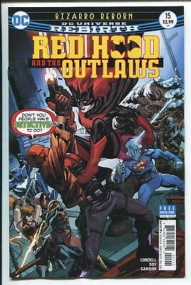 RED HOOD and the OUTLAWS #15 - REBIRTH - MIKE MCKONE REGULAR COVER - DC/2017