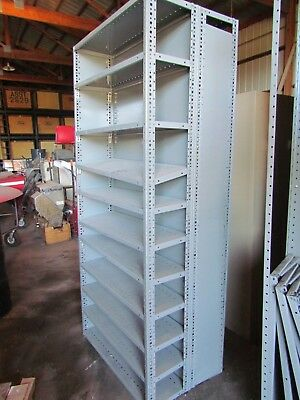 """2 - Double-Sided Metal Shelves, Each measures 36""""W x 85""""H x 26"""" Deep"""