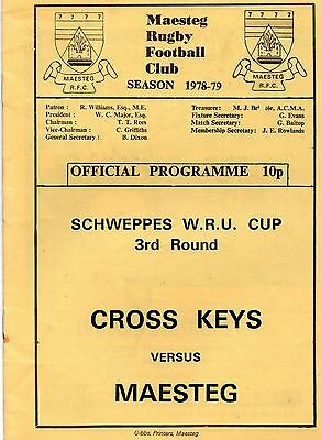 Feb 79 MAESTEG v CROSSKEYS