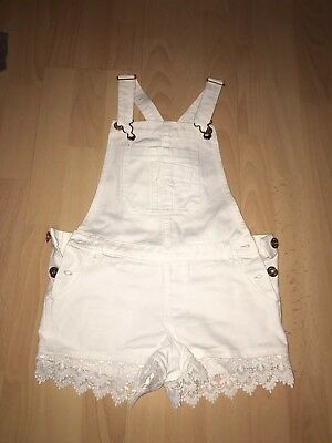 White Denim Short Dungarees 8-9